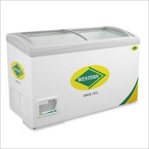 450 Ltr Western Deep Freezer With Curved Glass