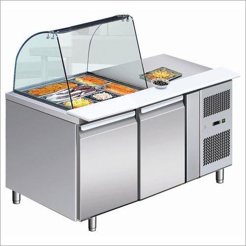 Refrigerator 2 Door Prep Counter