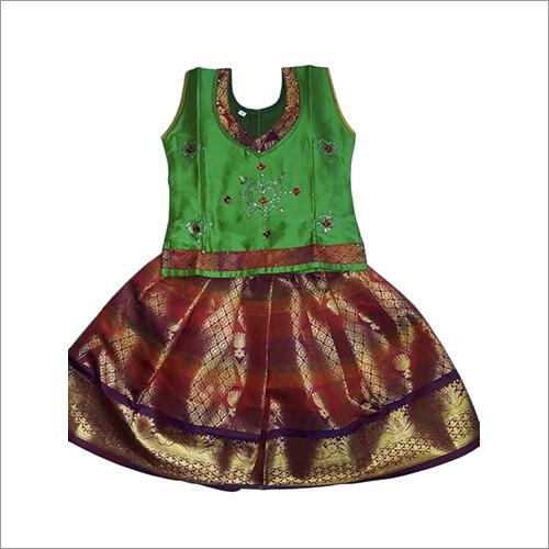 Kids Kerala Silk Lehenga
