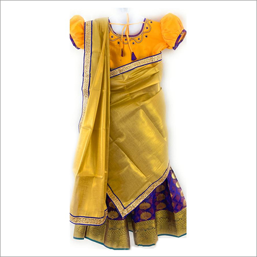 Kids Designer Pure Silk Lehenga
