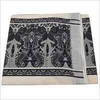 Kerala Black And White Butta Saree