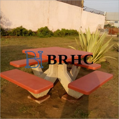 Concrete Square Table Bench