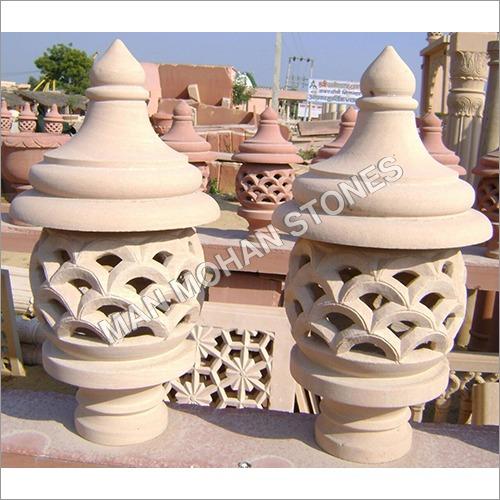 Natural Stone Jharna Lamp Post