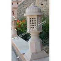 Natural Stone Lighting Lamp Post