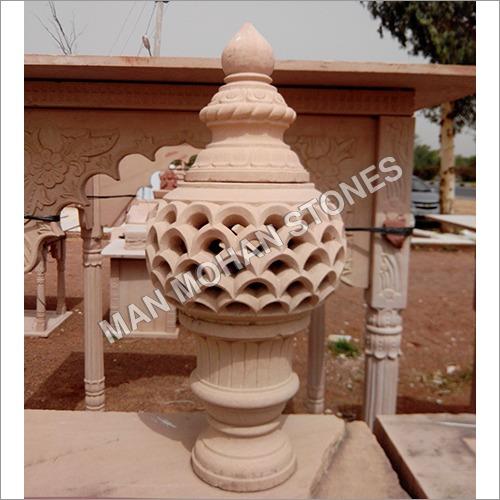 Sandstone Round Jharna Lamp Post