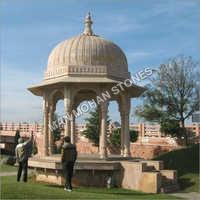 Outdoor Stone Chatri For Mandir