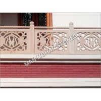 Natural Sandstone Jali Railings