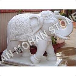 Pink Sandstone Elephant Statue