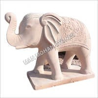 Natural Sandstone Elephant Statue