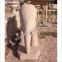 Outdoor Sandstone Elephant Statue