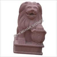 Garden Sandstone Lion Statue