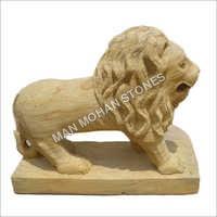 Outdoor Sandstone Lion Statue