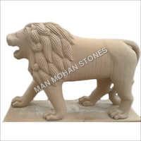 Sandstone Lion Statue