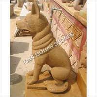 Sandstone Wolf Statue