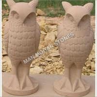 Sandstone Owl Statue