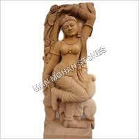 Red Sandstone Statue