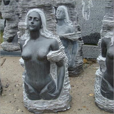 Antique Black Marble Statue