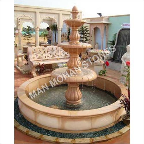 Stone Fountain With Stone Pond
