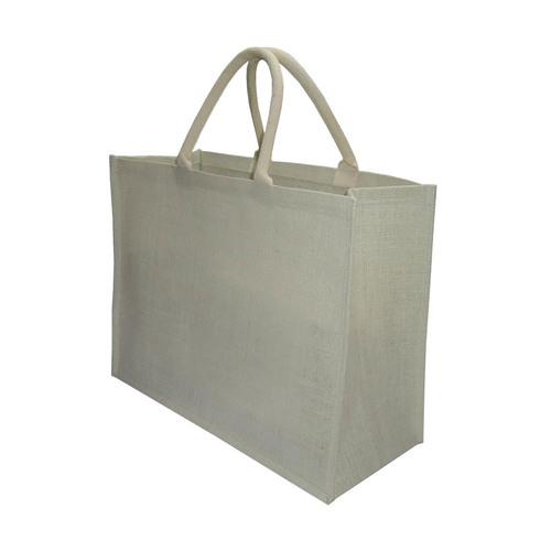 Padded Rope Handle Plain Natural Jute Shopping Bag