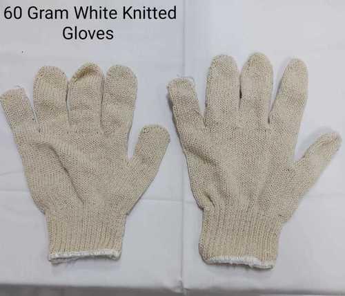White Knitted Gloves