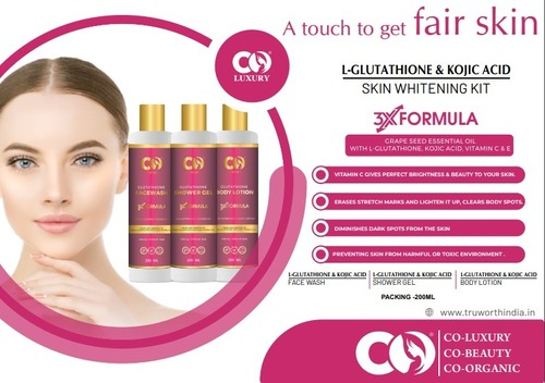 Co Luxury L-Glutathione & Kojic Acid Skin Whitening Kit