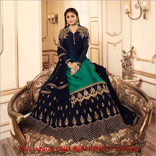 Heavy Faux Georgette Ethnic Skirt Suit