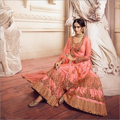 Indian Havey Embroidered Sharara Suit