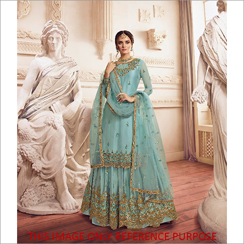 Heavy Embroidered Designer Sharara Style Suit