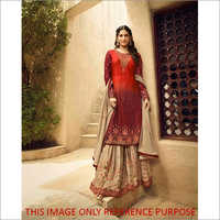 Heavy Faux Georgette With Sharara Suit