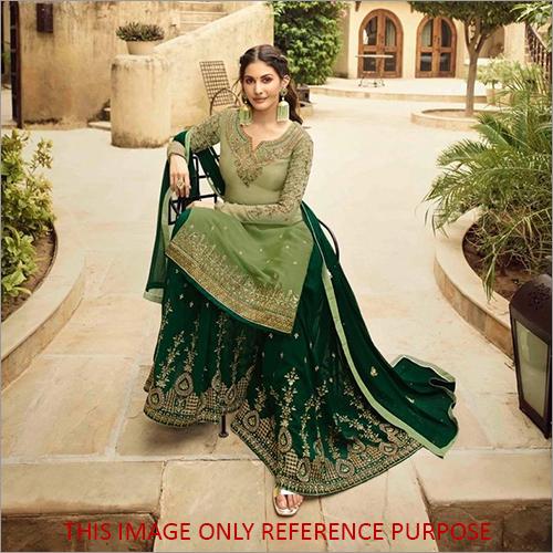 Designer Sharara Green Suit