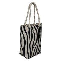 Zebra Print 12 OZ Natural Canvas Tote Bag