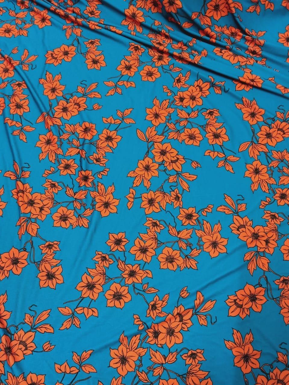 Polyester 4 way Digital Prints fabric