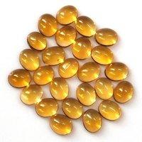 5x7mm Citrine Oval Cabochon Loose Gemstones