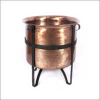 Copper Finish Fire Pit with Stand and Inner Net