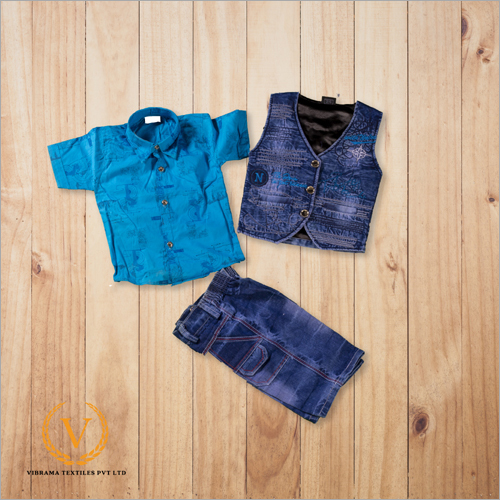Blue Shirt With Jacket And Jeans Short