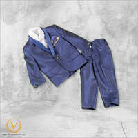 Boys 3 Piece Blue Suit