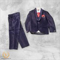 Boys 3 Piece Dark Blue Suit