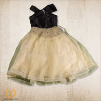 Girls Black And Gold Frock