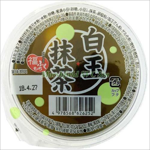 Marushin Matcha Jelly With Shiratama Dango & Beans