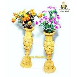 Decorative Wooden Flower Vase