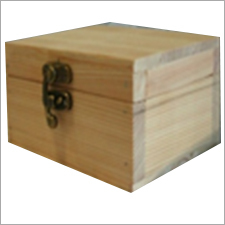 Natural Finish Wooden Box