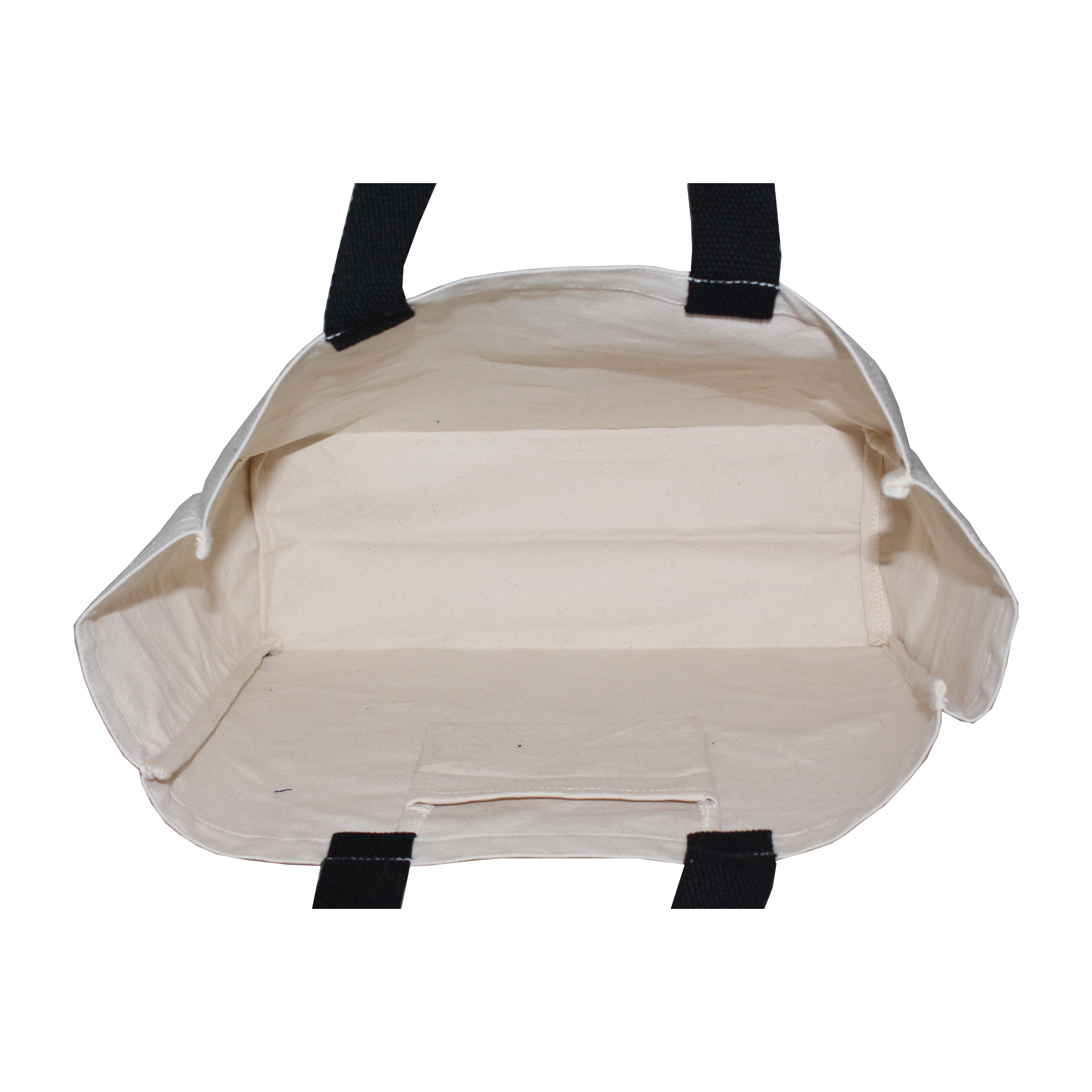 Cotton Web Handle Fashion Promotion Use Canvas Shopping Bag