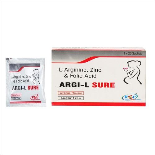 L Arginine Zinc Folic Acid Sachets