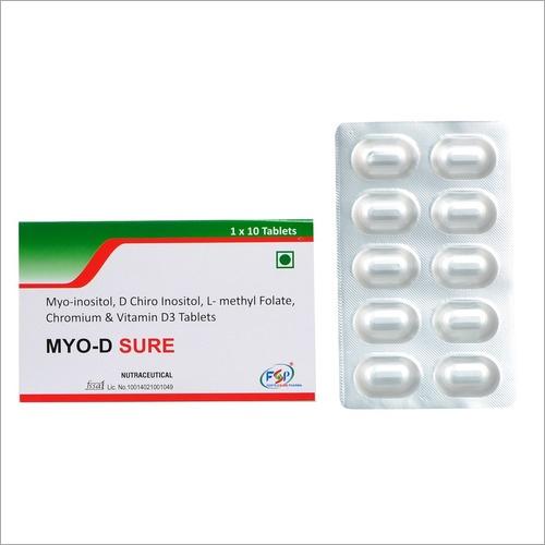 Myo-inositol,D Chiro Inositol,l Methylfolate,Chromium & Vitamin D3 Tablets