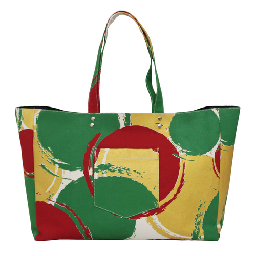 Inside Lining Printed Canvas Handle 12 Oz Natural Canvas Tote Bag