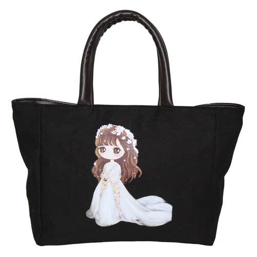 12 Oz Dyed Canvas Tote Bag With Polyester Lining