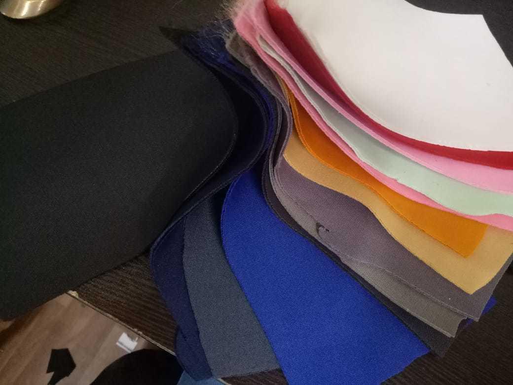Polyester Plain Sandwich Scuba Fabric
