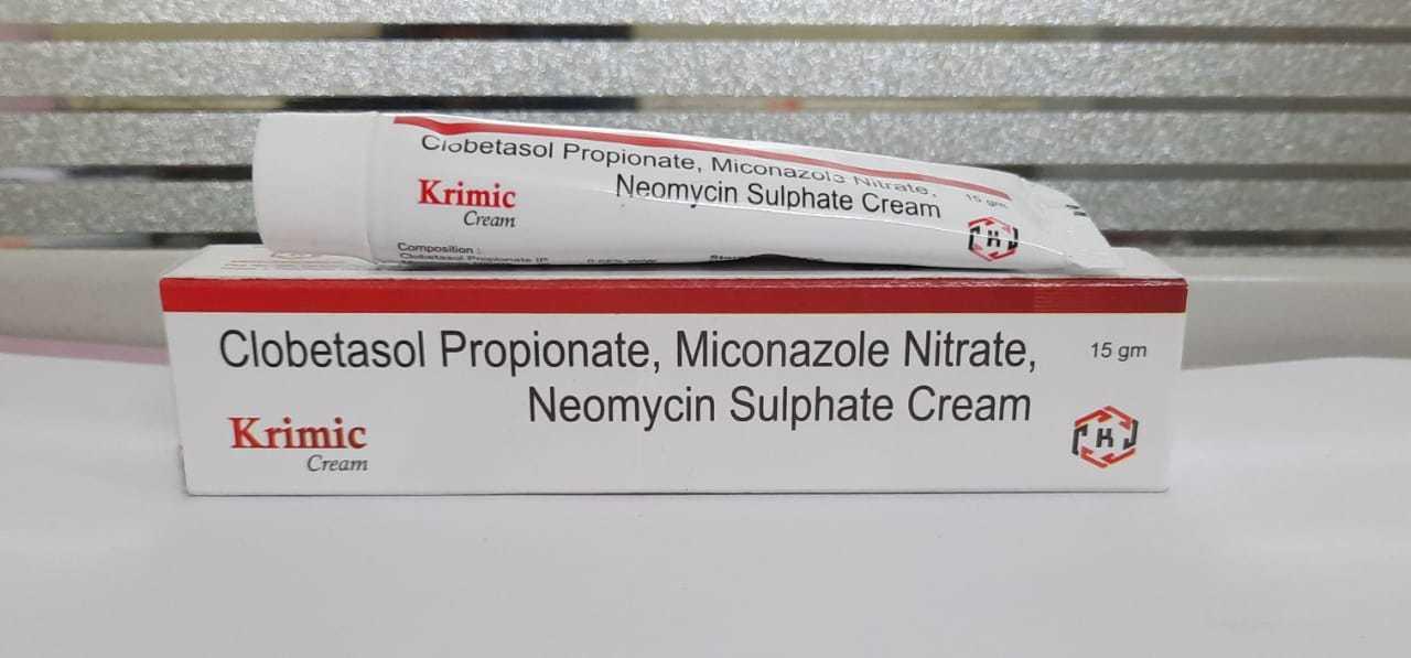 Clobetasol 0.05%+ Miconazole 2%+ Neomycin 0.5%+ Chlorocresol 0.1% Cream