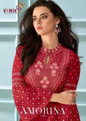 Vamika Amorina Vol 6 Muslin Silk Designer Gowns Catalog
