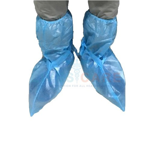 Shoe Cover With Elastic And Tie Belts